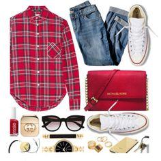 Plaid shirt styles #Autumn  #fall #spring