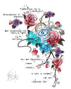 Afbeelding van http://img05.deviantart.net/c468/i/2013/340/a/2/alice_in_wonderland_tattoo_design_by_meganmissfit-d6wyekp.jpg.
