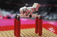 Two of her favorite things: Star Wars and gymnastics. Together at last! :p