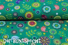 """Kinderstoffe - *EXCLUSIVE* """"Flower - Bird"""" *EXCLUSIVE* grün - ein Designerstück von DerBuntspecht bei DaWanda"""