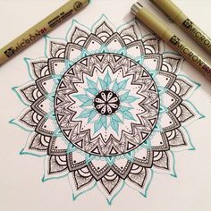 My first mandala post - I drew this mandala with my amazing micron pens ☺️