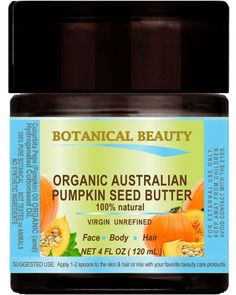 ORGANIC PUMPKIN SEED OIL BUTTER Australian. 100% Natural / VIRGIN / UNREFINED / RAW / 100% PURE BOTANICAL For Skin, Hair, Lip and Nail Care. 4 Fl.oz.- 120 ml >>> Continue to the product at the image link. (Note:Amazon affiliate link)