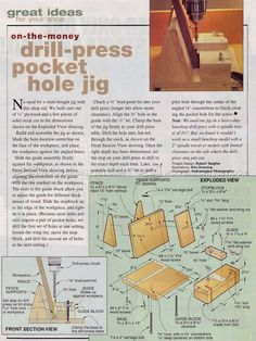 Drill Press Pocket Hole Jig - Joinery Tips, Jigs and Techniques | WoodArchivist.com