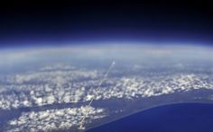 Space shuttle, from the space station. wow. 25 unbelievable things you probably never even knew existed