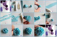 Ruffled flower cake tutorial