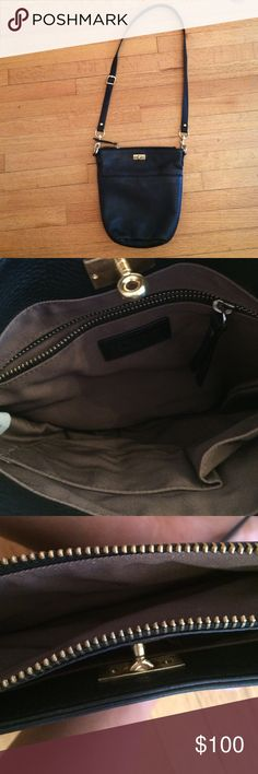 New J.Crew Black Leather Crossbody New J.Crew Black Leather Crossbody. Gold hardware. Excellent condition. Zip Closure at the top. Great bag to travel in as it stays close to you and zips. Very clean. Leather. Lots of pockets and compartments J. Crew Bags Crossbody Bags