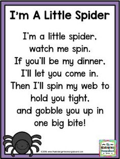 I'm A Little Spider poem! Practice rhyming words and fluency with this spider poem! Click for your freebie!