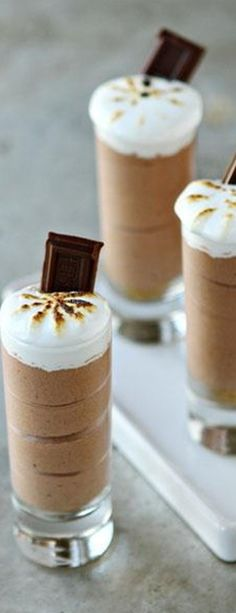 Smores Pudding Shots♥✤ | KeepSmiling | BeStayBeautiful