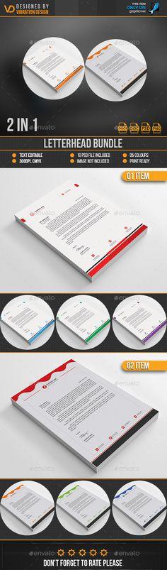 Letterhead Template Psd Bundle  Letterhead Design Templates
