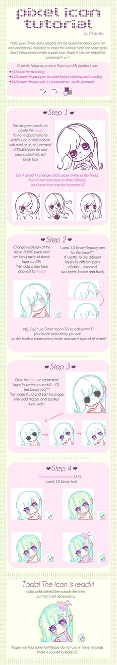 Pixel Icon TUTORIAL by Maiimiko.deviantart.com on @deviantART