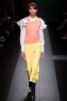 Fall-Winter 2016/2017 fashion trends: Candy Pastels Fall-Winter 2016/2017 season.  'These youthful and sugary shades introduce a feel of girlhood nostalgia, recalling the milky effect of the Crayola pencils used at school.'