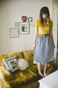 Stripe skirt vertical style