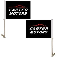 "Custom digitally printed car flags are a well-requested, durable and unique outdoor product that are sure to draw attention and get your team name or advertising message out there. These double sided car flags measure 7.5"" x 10.5"" and are perfect for spirit sales, corporate branding, delivery services, auto dealerships, awareness events, college bookstores and so much more. The amount of colors or the complexity of your design does not affect the price. Put your brand on something that…"