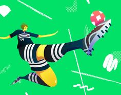 This is the index description. Art Deco Illustration, Woman Illustration, Character Illustration, Sport Football, Football Players, Soccer, Drawing Skills, Illustrations And Posters, Drawing For Kids