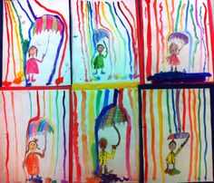 "7 Habits/Leader in Me art lesson (2nd Grade) ""Carry Your Own Weather"""