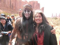 """Johnny Dep as """"Tonto"""" in the new lone ranger movie."""