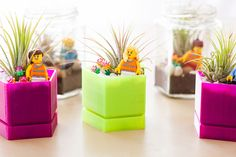 12 Awesome DIY Projects For Spring #refinery29  http://www.refinery29.com/diy-home-projects#slide3  Lego Terrariums by Brit + Co.   Our two great loves together at last: Legos (have you see the new movie!?) and teeny-tiny terrariums. We wouldn't mind five or 10 of these for our desk.