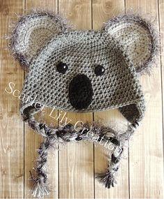 Ravelry: Koala Hat pattern by Jamie Huisman Crochet Bebe, Crochet For Kids, Crochet Hooks, Crochet Crafts, Crochet Projects, Crochet Baby Clothes, Craft Show Ideas, Kids Hats, Baby Hats