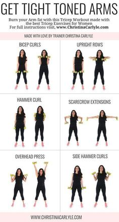 Arm Workout for Women that Want Tight Toned Arms - Dumbbell - Ideas of Dumbbell #Dumbbell -