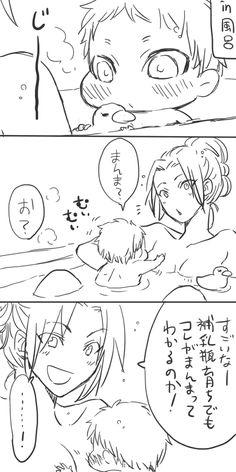 Hanji and baby Eren // AoT