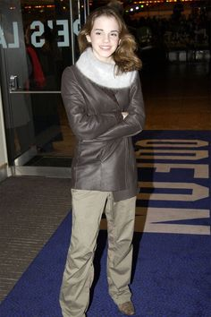 Emma Watson at 'Lord of the Rings Return of the King' London Premiere, 2003.