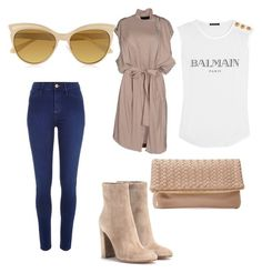 """"""""""" by omolaragbotosho on Polyvore featuring River Island, Gianvito Rossi, Balmain, Haider Ackermann, Vivienne Westwood and Deux Lux"""