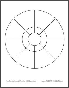 Blank Pie Chart with 24 Pieces: Print worksheet or use on