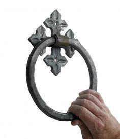 U201cCeltic Treasureu201d Natural Iron Door Knocker