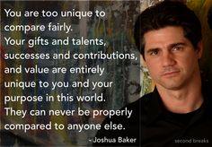 What Joshua Baker said...