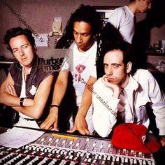 Joe Strummer, Don Letts, and Mick Jones