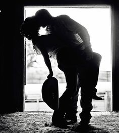 Engagement Picture, something like this but maybe with a dirt bike helmet instead of a cowboy hat