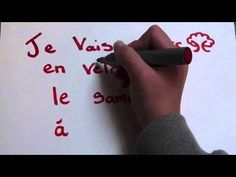 Le français facile - YouTube - illustrated simple sentence
