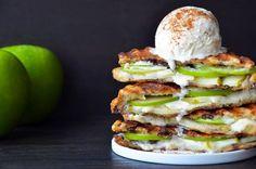 Heerlijk voor bij het dessert of als tussendoortje: Appeltaart tosti