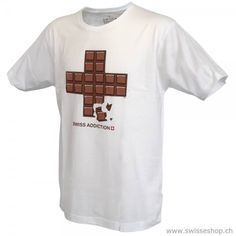 T-Shirt Swiss Addiction, white Pleasant material, ideal cut and the quality is perfect with this T-shirt. Pullover, Men Fashion, Switzerland, Addiction, Mens Tops, Summer Recipes, Moda Masculina, Sweater, Mens Fashion
