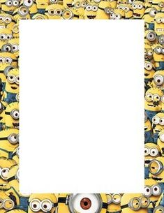 Minion Themed Print Out Border Page.pdf document provides a fun minion themed border for your print outs and hand outs. Simply print the page and then reuse, inserting your own content. Borders For Paper, Borders And Frames, Minion Birthday Invitations, Stationary Printable, Mushroom Crafts, Minion Party, Instagram Frame, 1st Boy Birthday, Planner