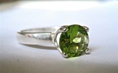 Peridot ring by TheJewelryTherapist on Etsy, $62.00