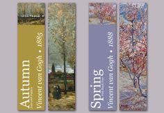 Seasonal bookmark designs.I can use shubham bhaiya's birthday poem for each season