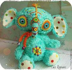 Мишки Тедди ручной работы. Ярмарка Мастеров - ручная работа Слон- Инди. Handmade.