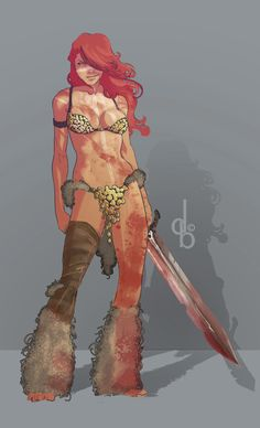 Heroes and Villains, phrrmp:   Red Sonja by dylan2danny