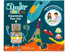 https://www.boxed.com/invite/11H44 The 3Doodler Start extrudes an Eco-friendly Plastic that cools and hardens rapidly, allowing kids to literally draw in the air! With the new 3Doodler Start your creative kids can finally bring all of their wonderful and imaginative ideas to life in 3D.• Safe & Clean: Uses our specially developed bioplastic. There are no hot parts. No messy resins or glue.• Easy To Use: Just turn it on, insert a strand and start Doodling anything you want in 3D, immediately.