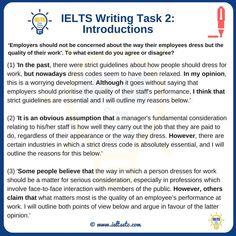 There is no correct answer to Task 2 IELTS Writing. Essay Writing Examples, Essay Writing Skills, English Writing Skills, Writing Lessons, Fiction Writing, Blog Writing, English Vocabulary Words, Learn English Words, English Letter