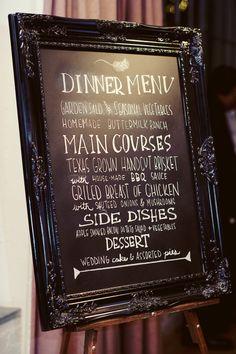 chalkboard buffet menu DOING IT