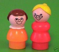 Fisher Price ladies in glasses