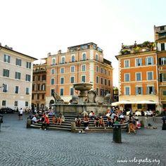 Piazza di Santa Maria in Trastevere #Roma