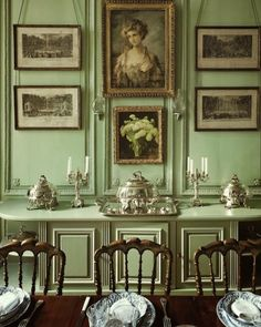 in the sea green dining room surrounded by antique engravings hangs a portrait of olympes sister the wistful colombe who died of melancholy at