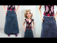 How to make a skirt for your fashion doll