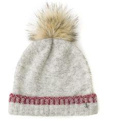 Tommy Hilfiger Fur Pom Knit Hat (815 MXN) ❤ liked on Polyvore featuring accessories, hats, fur pom-pom hats, tommy hilfiger hat, pom pom hat, knit pom hat and pompom hat