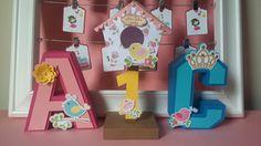 Letra em 3D e casinha bird by Oliver Festas Infantis ☺