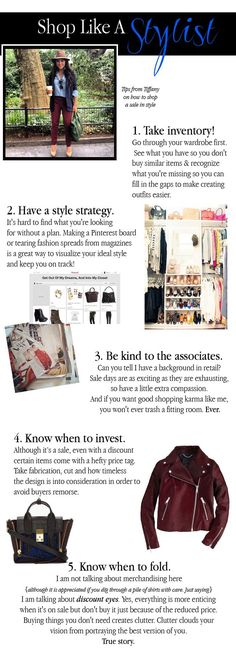 Shop like a stylist! Tips on how to shop a sale from Tiffany Piñero