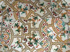 Tile mosaic Gaudi, Parc Guell, Barcelona, Spain.
